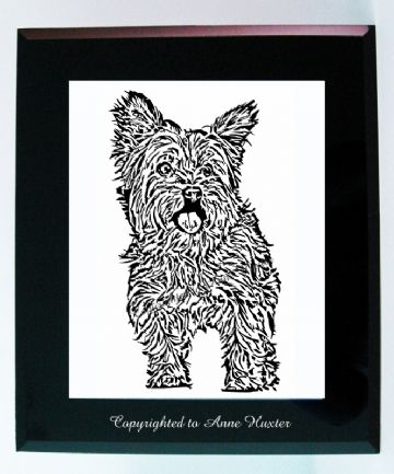 Yorkshire Terrier Vinyl Design Template